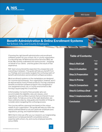 Guide to Benefit Administration and Online Enrollment Systems