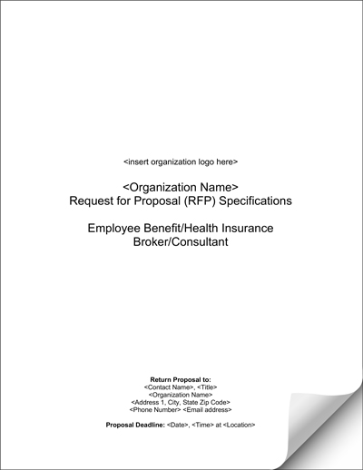 Blank Health Insurance Consultant Broker Rfp Template